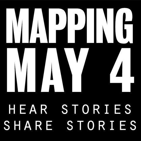 MAPPING MAY 4: ORAL HISTORY PROJECT DEMO; HEAR STORIES; SHARE STORIES LOGO