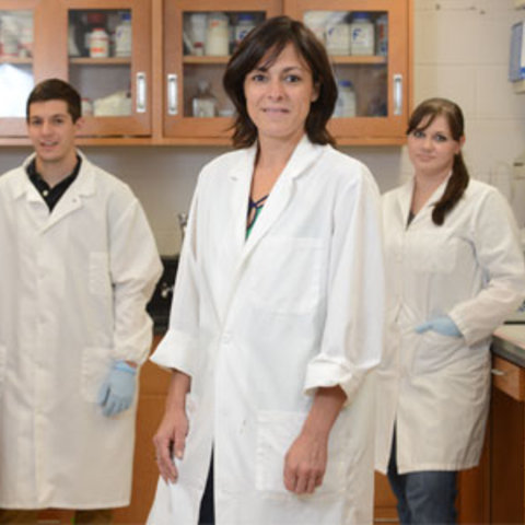 Kent State Biology Professor and Renowned Alzheimer's Researcher Dr. Gemma Casadesus-Smith shows off her lab and students