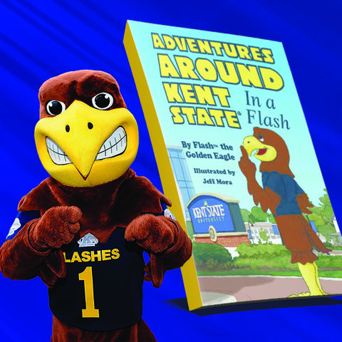 Flash with his new book.