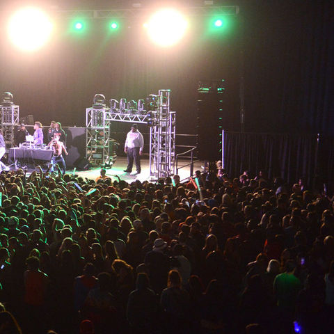Kent State students pack the MAC Center and watch Rae Sremmurd perform on stage during FlashFest 2015.
