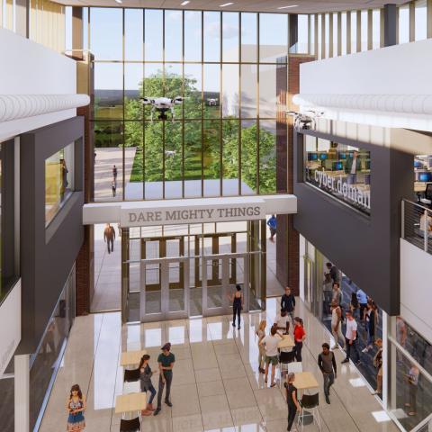 Photo of interior of CAE building