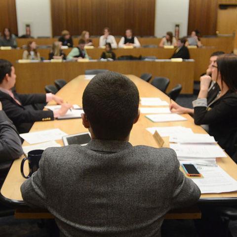 USG Members conducting a meeting