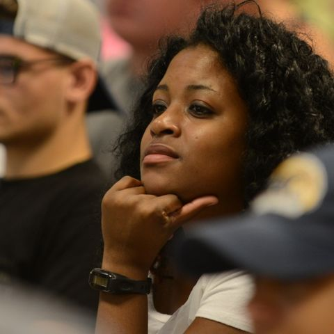 Students in the College of Education, Health and Human Services listen to a class lecture in Nixson Hall.