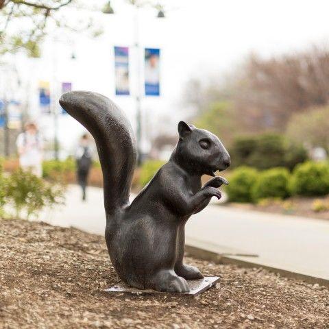 Black Squirrel Statue