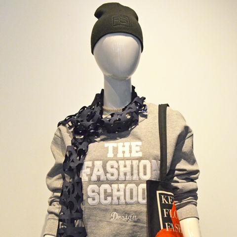 Mannequin wearing FSStore Sweatshirt and accessories
