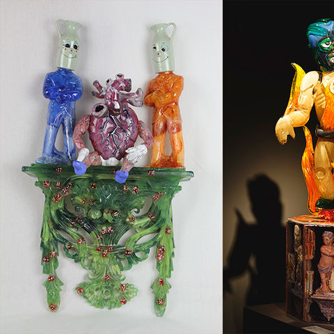 Glass Hot Sculpting and Assemblage Techniques, May 26-June8, 2019, Resident Faculty - Davin Ebanks, Visiting Artists - de la Torre Brothers