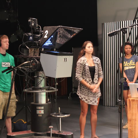 TeleProductions staff await a live recording.