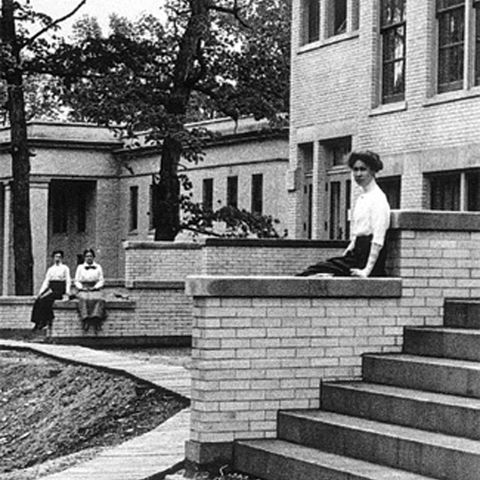 An old photograph of Kent State University.