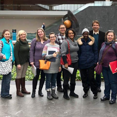 Kent State graduate students at the Cleveland Museum of Art