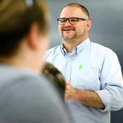 Dr. Todd Hawley teaching