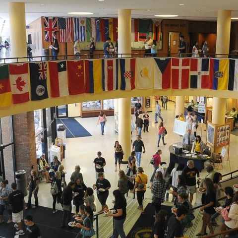 Student Center with Flags