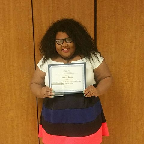 Shantee Trudo, recipient of the Outstanding Undergraduate Student in Special Education 2015-2016
