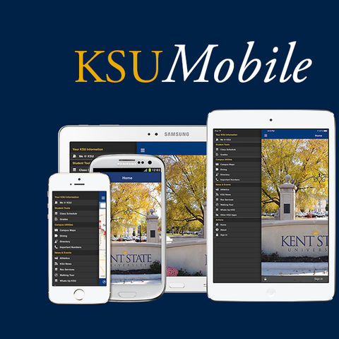 KSUMobile: Kent State's official app for iOS and Android tablets and smartphones.