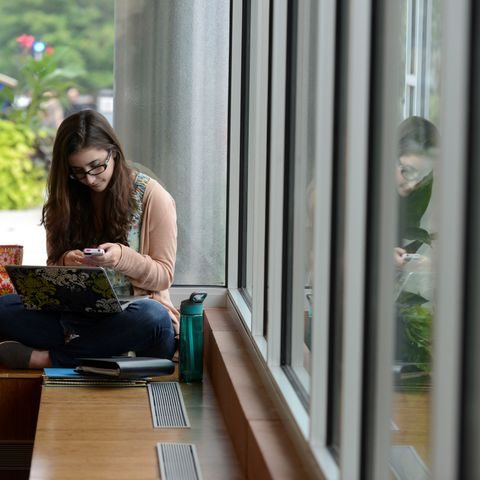 A student studying.