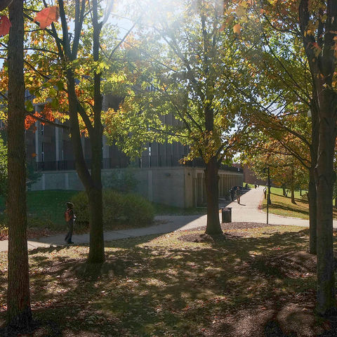Taylor Hall in the fall