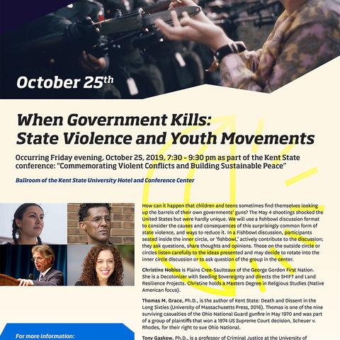When Government Kills flyer