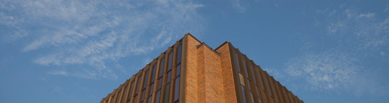 The College of Business Administration building at Kent State University in Kent, Ohio.