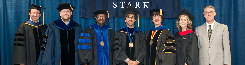 Pictured left to right: Clarke Earley, James Seelye, A. Bathi Kasturiarachi, Matthew Lehnert, Denise Seachrist, Lisa Waite and Eugene Guiley.