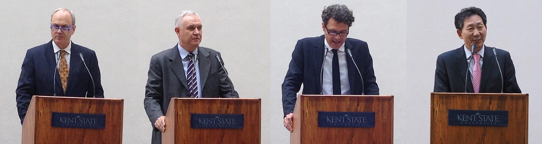 Keynote Speakers: Todd Diacon, Marcello Fantoni, Fabrizio Ricciardelli and Hosung Chang