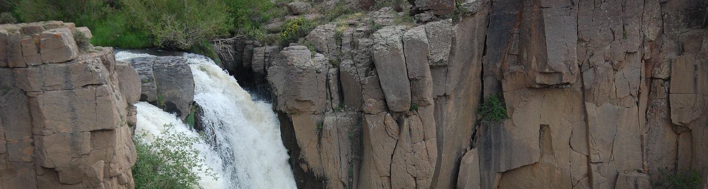 North Clear Creek Falls near Lake City, Colorado.
