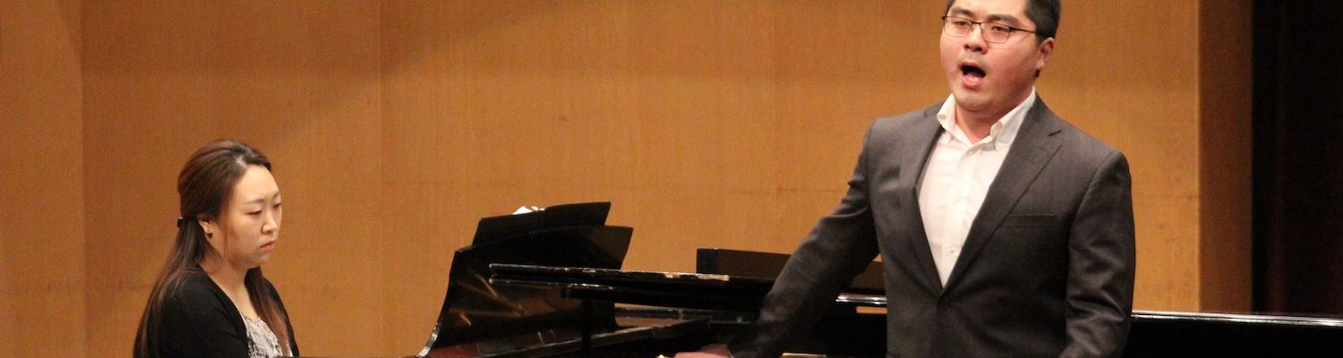 Vocal Student Performing in Ludwig Recital Hall