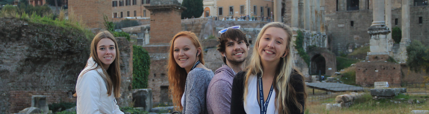 College of Communication and Information students visit Rome as part of their semester abroad in Italy.