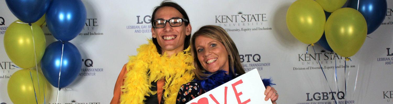 KSU student and parent at LavGrad 2018