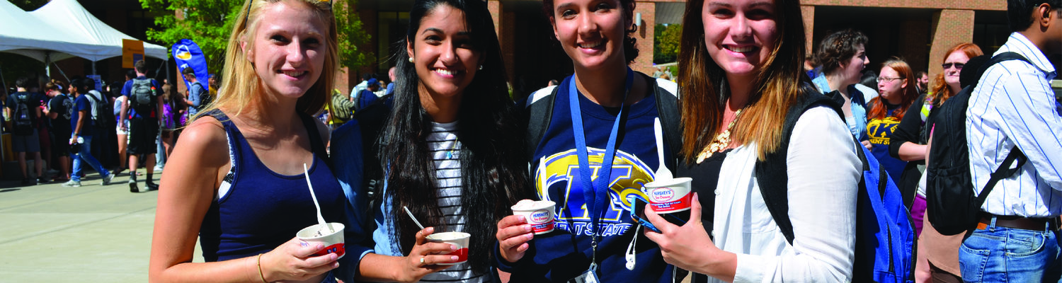 Girls show off their samples at Taste of Kent