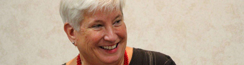 Ashtabula Campus Dean Susan Stocker speaking hero image