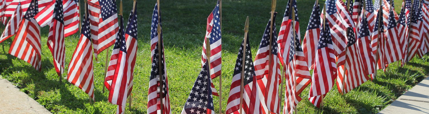 Nearly 3,000 flags are displayed on the Kent State Ashtabula campus as a memorial of the Sept. 11th attacks