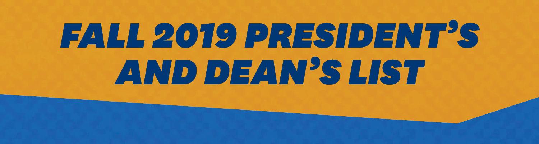 Fall 2019 President's and Dean's List logo
