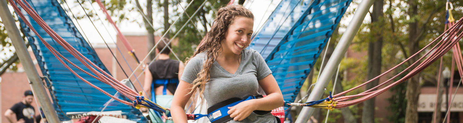 Students gear up for Euro Bungee at Spirit Fest.