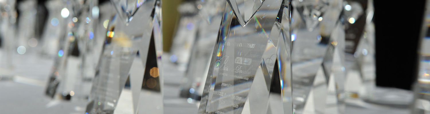 Awards table from the 10th Annual Donaho Awards in 2016