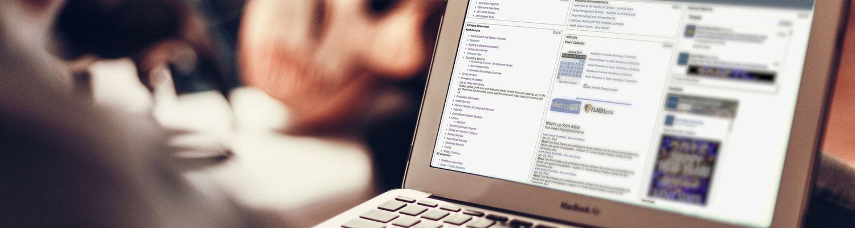 laptop computer showing Flashline