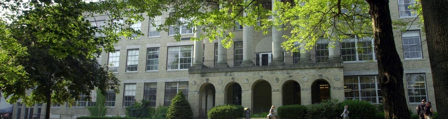 Kent Hall, named for William S. Kent, the donor of the land for the original campus