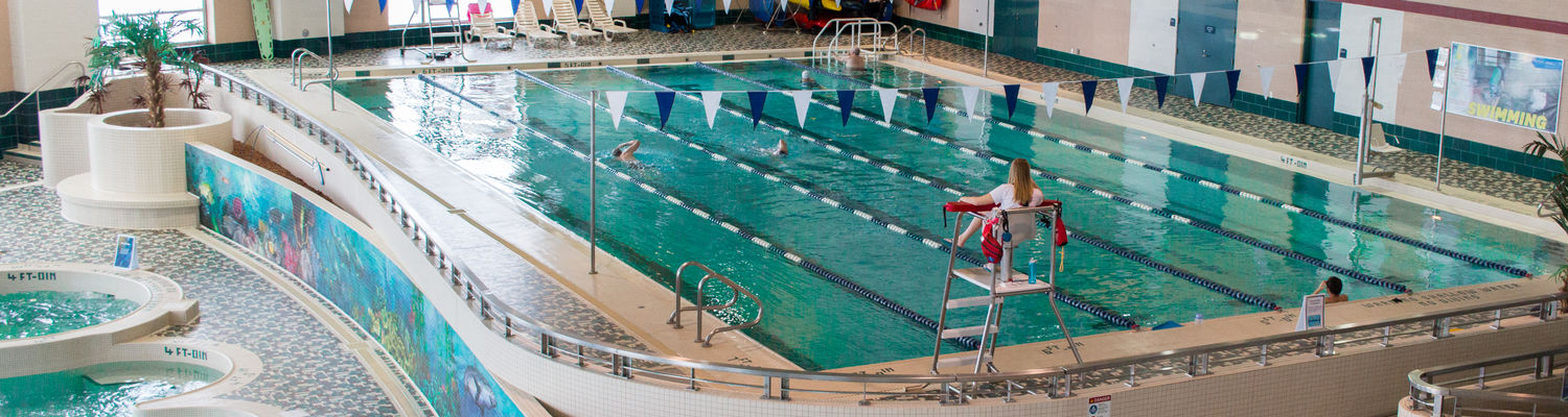 State of the art natatorium at Kent State University's Student Recreation and Wellness Center