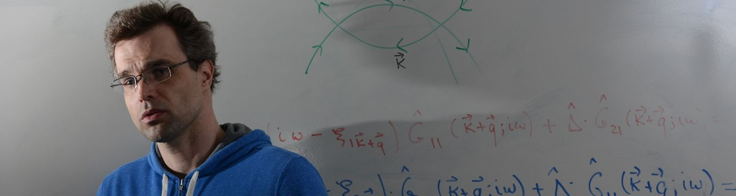 """Maxim Dzero, Ph.D., assistant professor of physics in Kent State University's College of Arts and Sciences, has been granted $302,796 from the National Science Foundation for his project titled """"Spins and Knots: The Rise of Topology in F-Orbital Materials"""