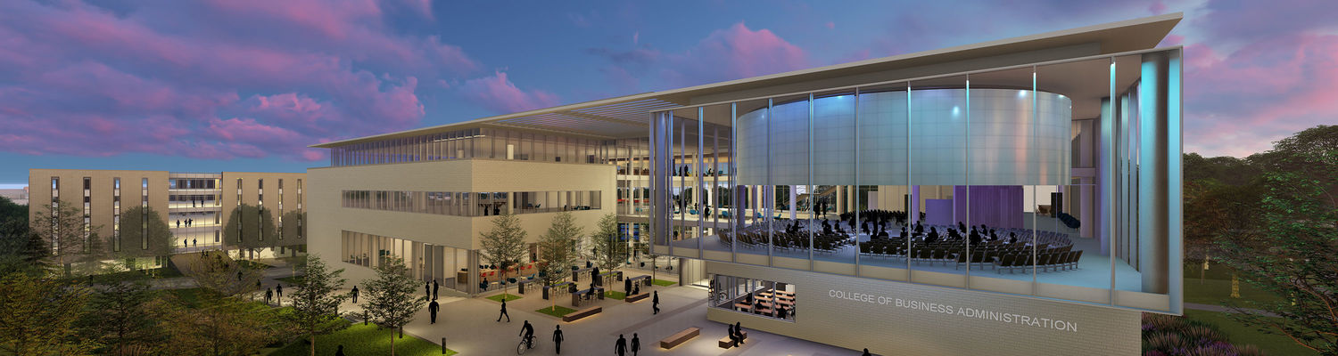 College of Business Administration new building rendering