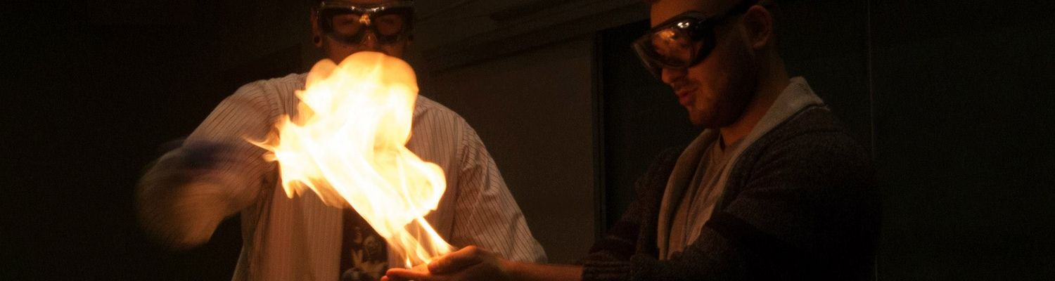 Students take part in a chemistry demonstration at Explore Kent Chemistry Day.