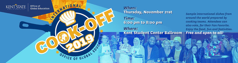 2019 International Cook-Off, November 21, Kent Student Center