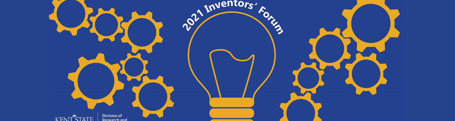 Banner image of a lightbulb surrounded by gears for the 2021 Inventors' forum