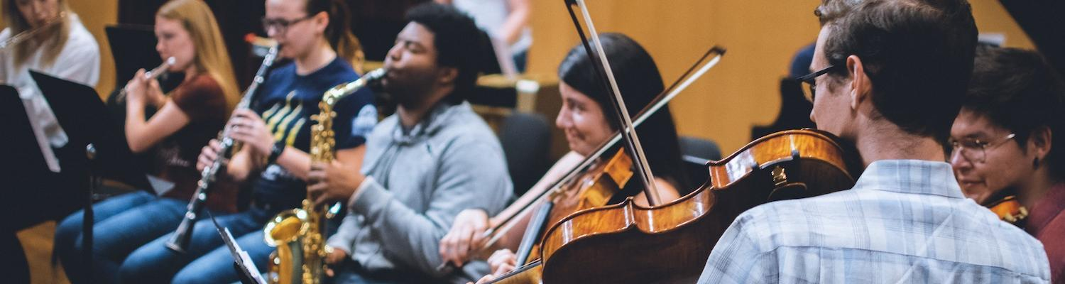 Students in New Music Ensemble   Photo Credit: Mason G. Smith Photography