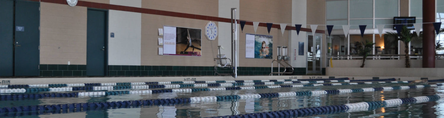 Six-lane lap pool at the state-of-the-art Natatorium in the Kent State Student Recreational and Wellness Center