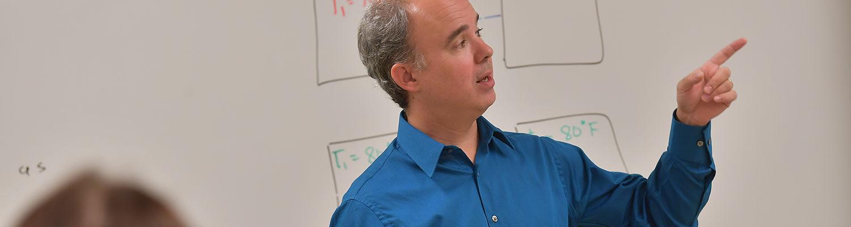 Ashtabula physics professor Dr. Don Driscoll