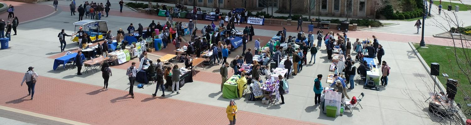 Over 50 on and off campus organizations celebrate Earth Fest at Kent State University with music, food, games and prizes.