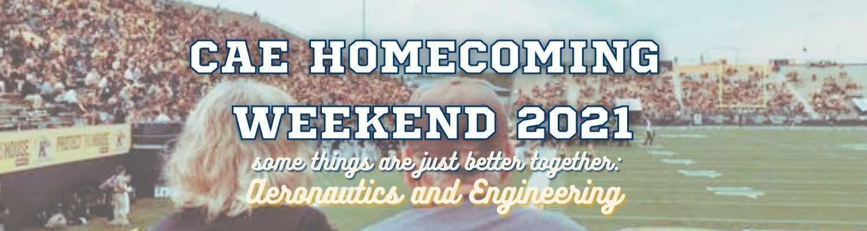 CAE Homecoming Weekend 2021 Banner
