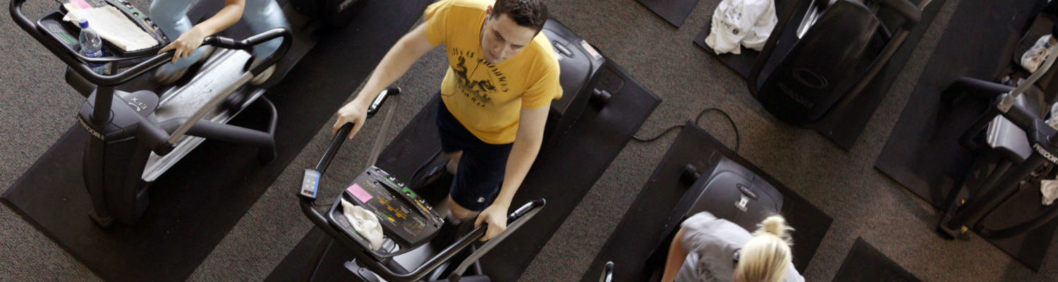 Students work out at the Rec Center.