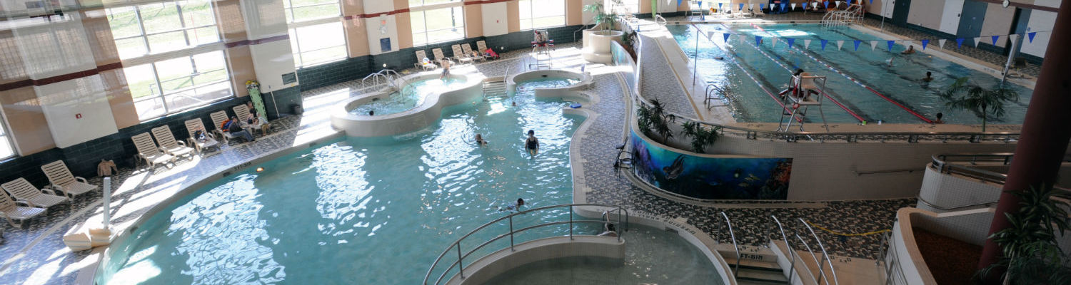 The Rec Center has a lap pool and spa area.