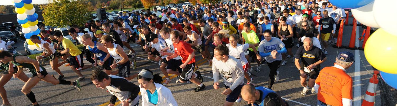Students participate in a marathon.