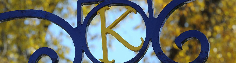 """""""K"""" gate on campus"""